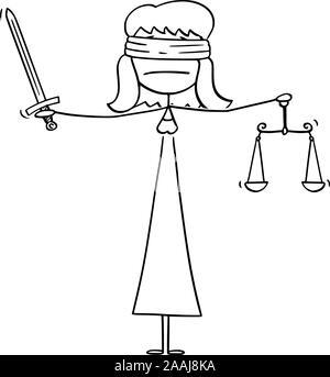 justice balance cartoon Stock Vector Art & Illustration