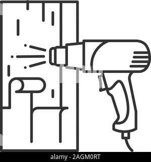 Heat gun linear icon concept. Heat gun line vector sign