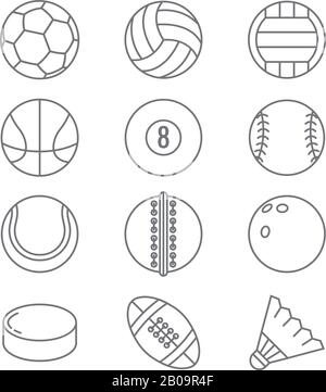 Soccer ball icon, outline style Stock Vector Image & Art
