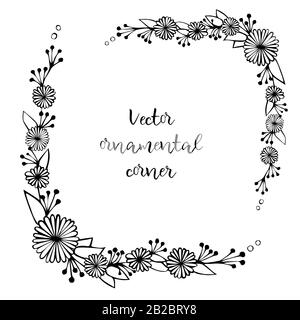 Vector Hand Drawn calligraphic floral J monogram or logo