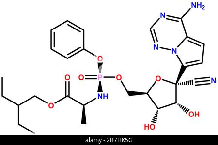 3D structure of antiviral Remdesivir active against the