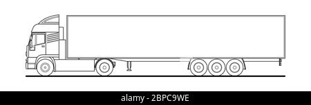 Semi truck template for car branding and advertising