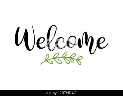 Welcome aboard phrase. Hand drawn business quote with job