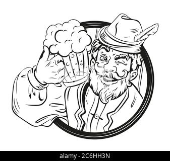 Beer emblem with cheers german Stock Vector Image & Art