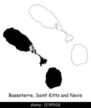 Basseterre the capital of Saint kitts and Nevis in the