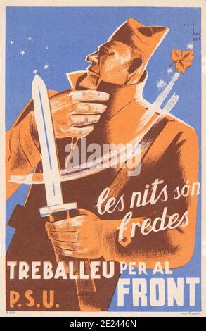 Affiche De Propagande Guerre Civile Espagnole : affiche, propagande, guerre, civile, espagnole, Spanish, Civil, 1936/1939,, Catalan, Propaganda, Poster, Nights, Front, Stock, Photo, Alamy