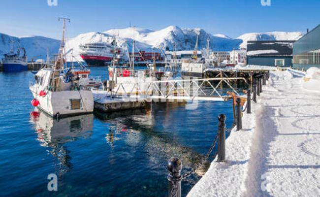 Hurtigruten Ship Ms Richard With Berthed At Bodø Norway