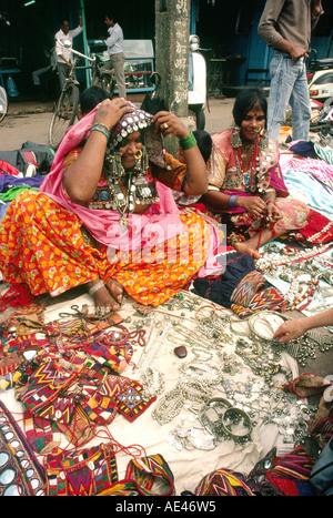 India Goa Mapusa Market Banjara Tribal Women Jewellery