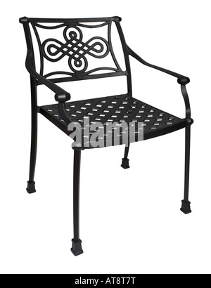 Furniture, patio, metal, black, iron, wrought, outdoor
