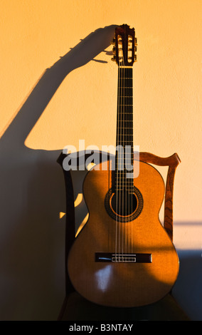 classical guitar chair office parts a on stock photo 224170763 alamy made by spanish madrid based luthier manuel contreras resting antique