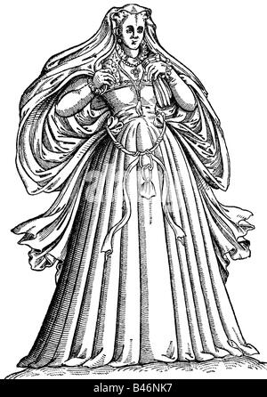 fashion, 16th century, Germany, womans costume, noblewoman