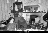 The Interior of slum housing in an area of Newcastle A ...