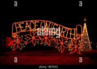 Peace On Earth holiday light display. Woodland Light ...
