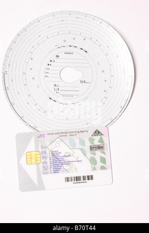Digital Tachograph card for haulage industry Stock Photo