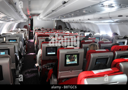 In Flight Entertainment System Screen Inside The Cabin Of