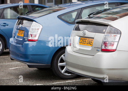 Three Toyota electric hybrid synergy drive cars in the grounds of Stock Photo: 30515380 - Alamy