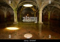 Reflection of skylight in underground Portuguese cistern ...