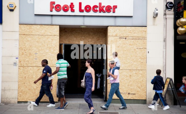 A Closed Foot Locker Store In Times Square In New York Is
