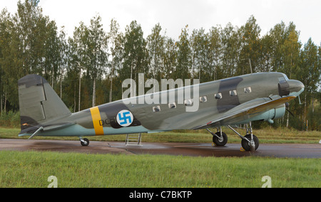 WW2 veteran DC-2 of the Finnish Air Force Stock Photo - Alamy