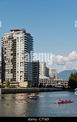 Vancouver Yaletown Skyline And False Creek At Dusk As