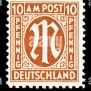 Postage Stamp Germany Am Post 1945 5 Pfennig Mint