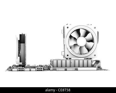 Motherboard Computer artwork main circuit board