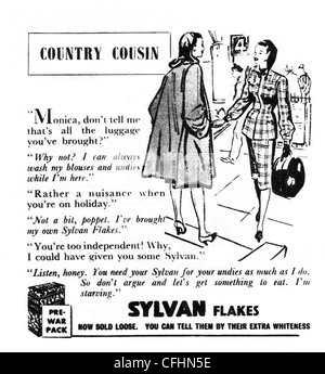 An advert for Sylvan soap flakes. The advert claims that