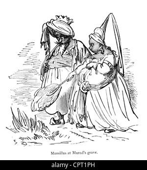 Arab man and woman illustration Stock Vector Art