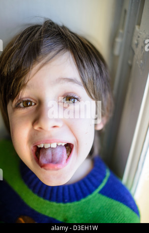 child makes grimaces Stock Photo: 53796024 - Alamy