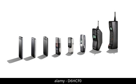 Sony Ericsson mobile cell phone cut out. View from the