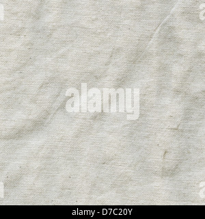 Texture of slightly wrinkled white cotton cloth. Scanned