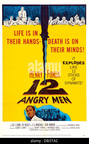 12 Hommes En Colère Film : hommes, colère, MOVIE, POSTER,, ANGRY, Stock, Photo, Alamy