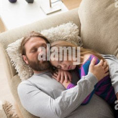 Sleeping Couch And Sofa Cape Town Simple Set Designs 3 1 Father Daughter 7 9 Lying On At Home Man ...