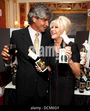 David Moya and Ivana Trump Ivana Living Legend Wine Collection launch Stock Photo: 59451180 - Alamy