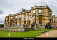 The ruins of Witley Court mansion and gardens in ...