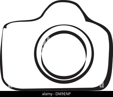 DSLR Camera Outline Stock Vector Art & Illustration
