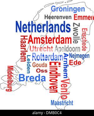 holland netherlands amsterdam rotterdam map atlas