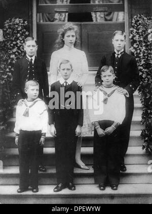 édouard Viii Frères Et Sœurs : édouard, frères, sœurs, Portrait, Prince, Edward, Child,, Later, England, Stock, Photo, Alamy
