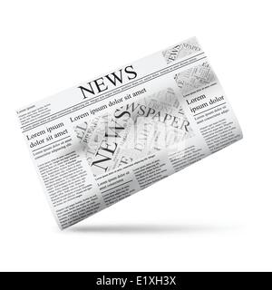 Tabloid Newspaper Design Template Vector. Images, Articles