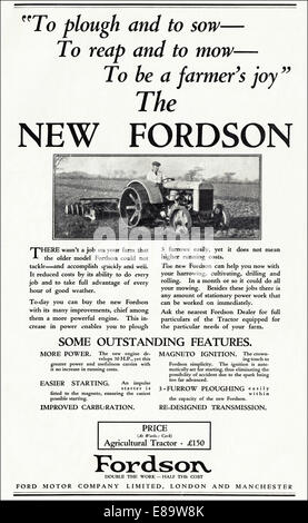 Ford Motor Company Vintage Advertisement Featuring the Big