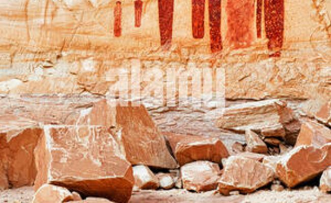 The Holy Ghost Panel Of The Great Gallery Pictographs In