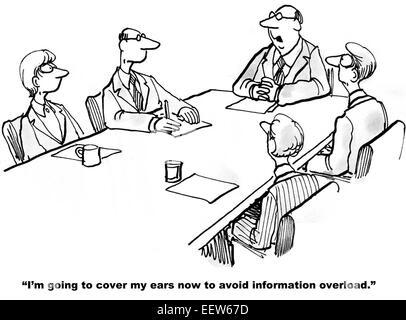 Cartoon of business team update meeting. Businesswoman