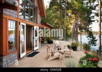 Patio Of West Coast Waterfront Home; Victoria, Vancouver ...