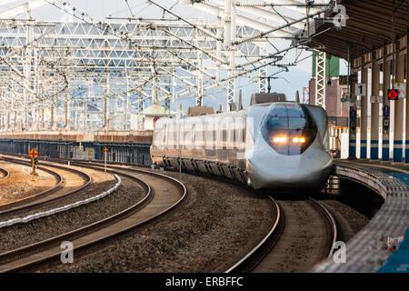 Japan Railways Shinkansen Super express Nozomi Bullet train interior Stock Photo Royalty Free Image 11811509  Alamy