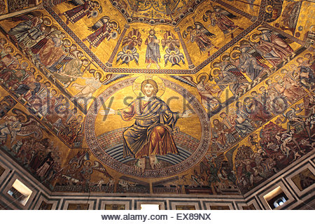 Florence Baptistery Ceiling, Florence, Italy Stock Photo
