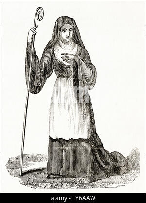Medieval Abbess Stock Photo, Royalty Free Image: 50319774
