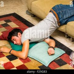 Sleeping Couch And Sofa Cape Town Red Sectional With Chaise Drunk Young Man Passed Out In Bar Stock Photo, Royalty ...