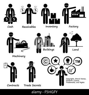 Company Business Liability Pictogram Stock Vector Art