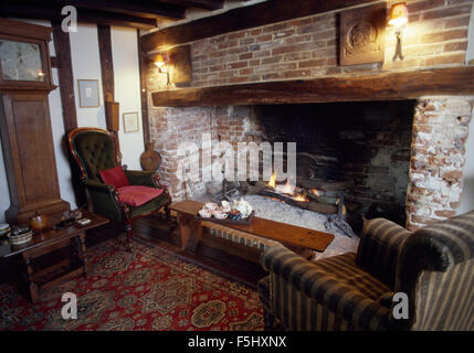Inglenook Fireplace In Old Fashioned Victorian Style