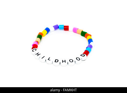 Colorful rainbow loom bracelet rubber bands fashion Stock
